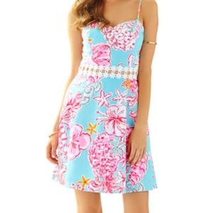 Lilly Pulitzer Lenore Lace Cut-Out Sundress